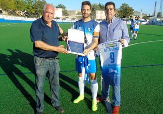 Diego Gomez con los Presidentes de Borja y Ejea
