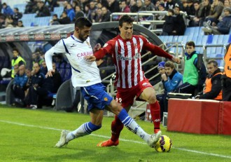 Javi Álamo contra el Girona
